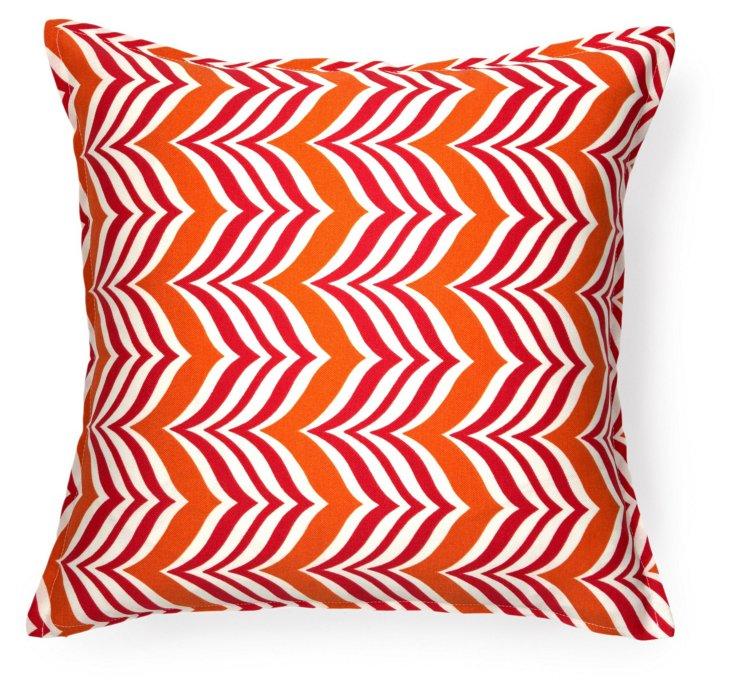 Zigzag 16x16 Outdoor Pillow, Orange
