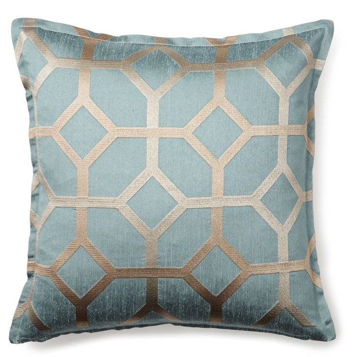Palace 16x16 Pillow, Blue