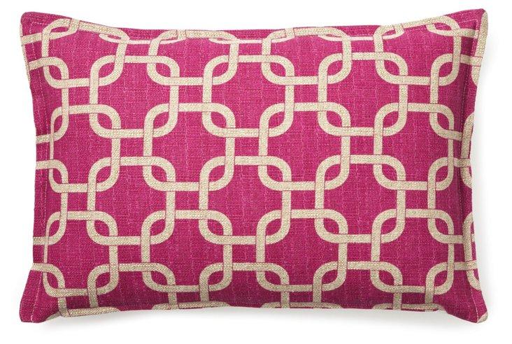 Links 12x18 Pillow, Raspberry