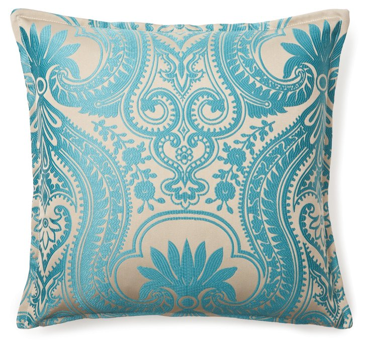Royal 16x16 Pillow, Turquoise