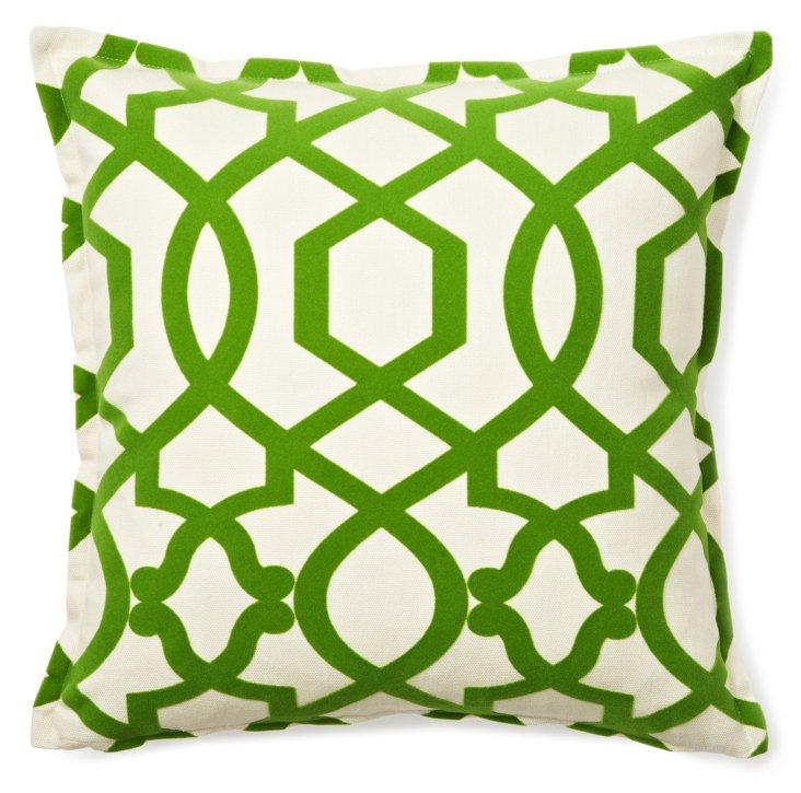 Gradual 16x16 Cotton Pillow, Green
