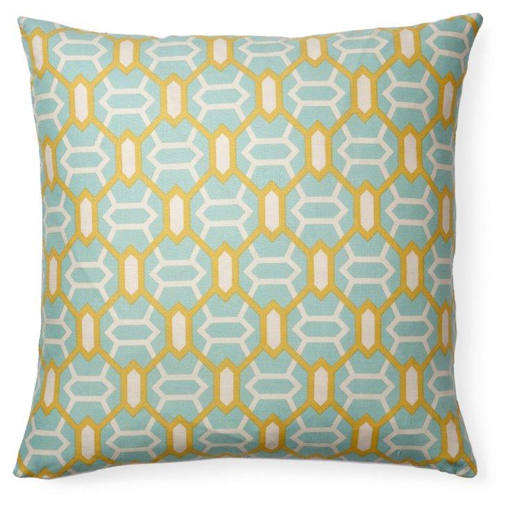 Oracle 16x16 Cotton Pillow, Blue