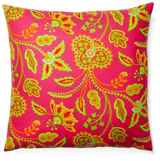 Interwoven 20x20 Outdoor Pillow, Pink