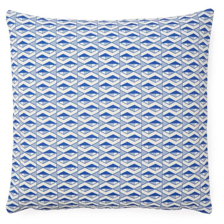 Dunes 20x20 Outdoor Pillow, Blue
