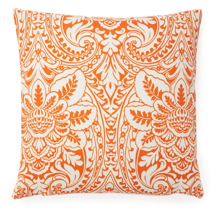 Palm 20x20 Outdoor  Pillow, Orange