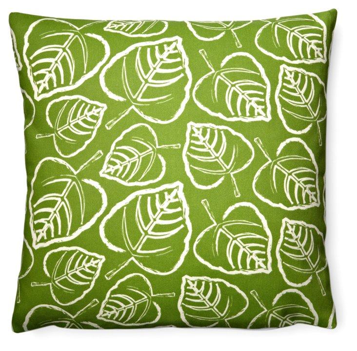 Tropics 20x20 Outdoor Pillow, Green