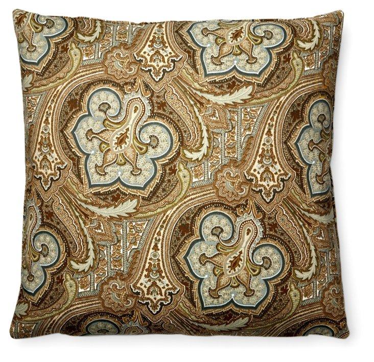 Tile 20x20 Outdoor Pillow, Brown