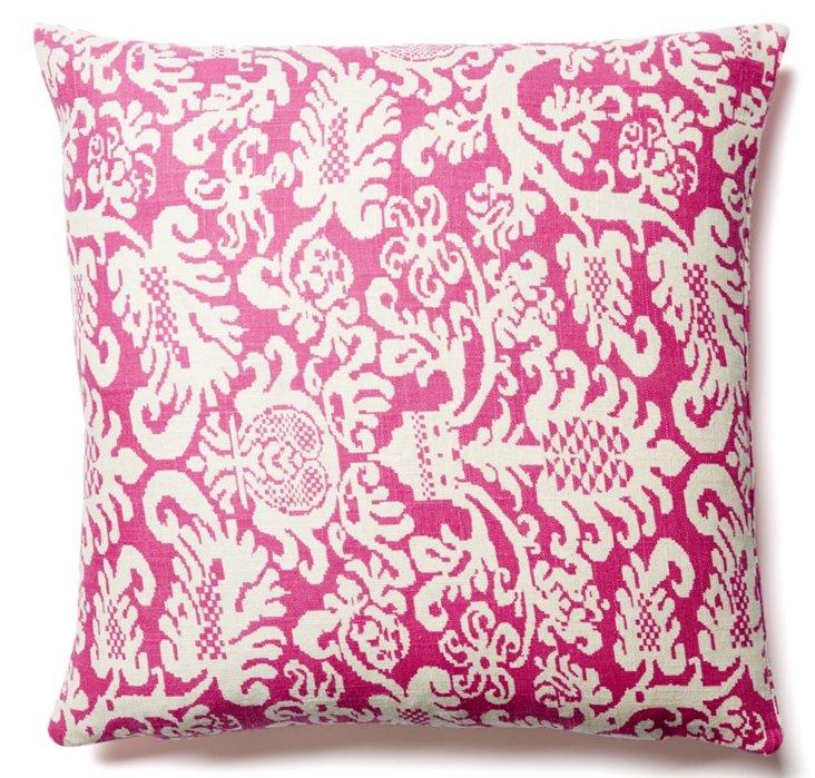 Lush 20x20 Cotton Pillow Cover, Magenta