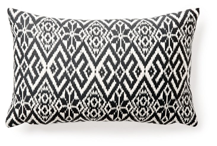 Sara 12x20 Cotton Pillow, Gray