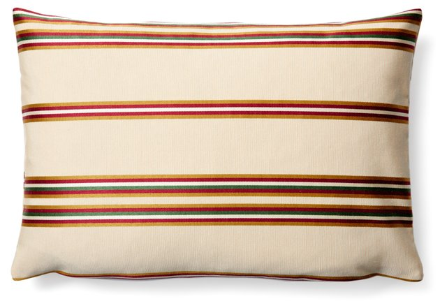Stripe 12x18 Pillow, Beige