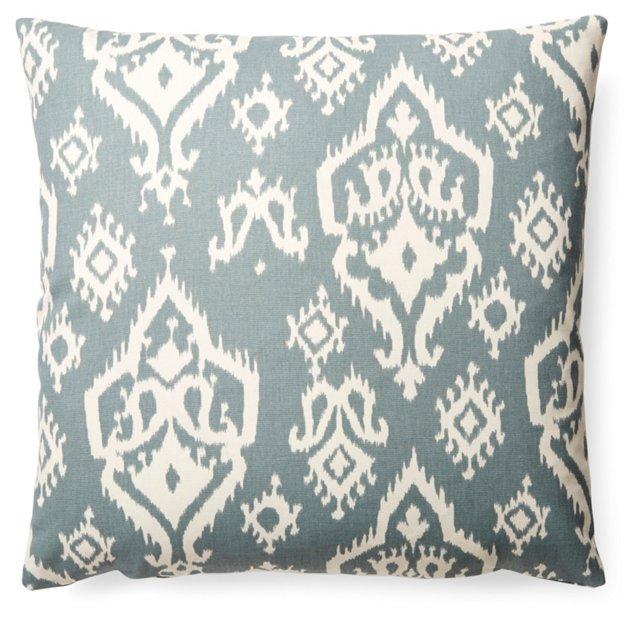 Pacifica 20x20 Cotton Pillow, Blue