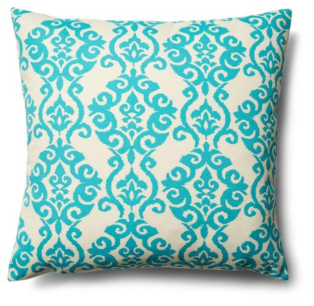 Damask 20x20 Pillow, Teal