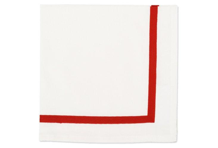 S/4 Aari Napkins, Red