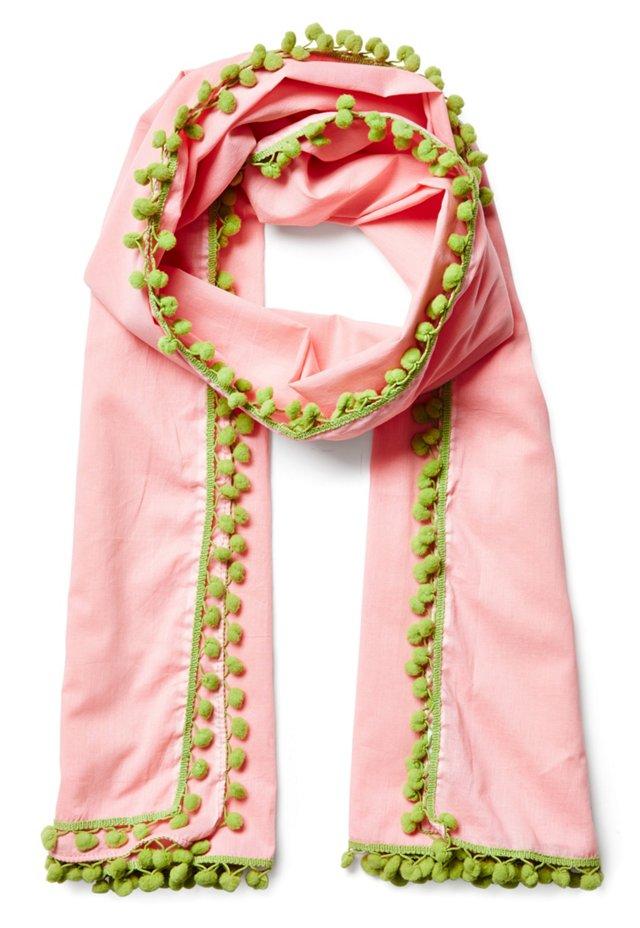 Bridgette Shawl, Pink/Green