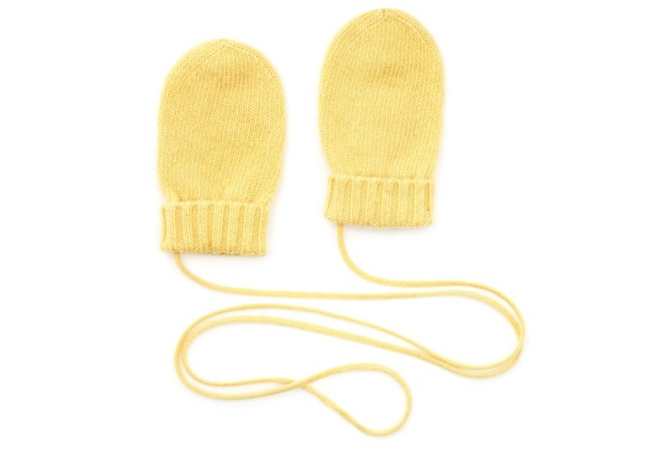 Cashmere Mittens, Pale Banana