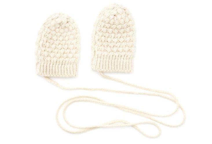 Baby Cashmere Mittens, Yogi Ivory