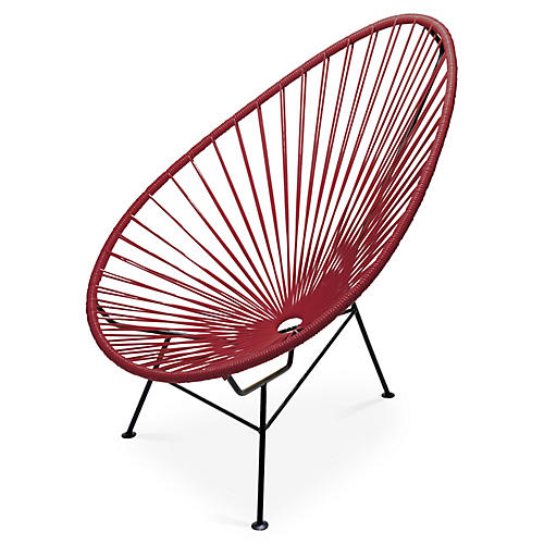 Acapulco Lounge Chair, Burgundy