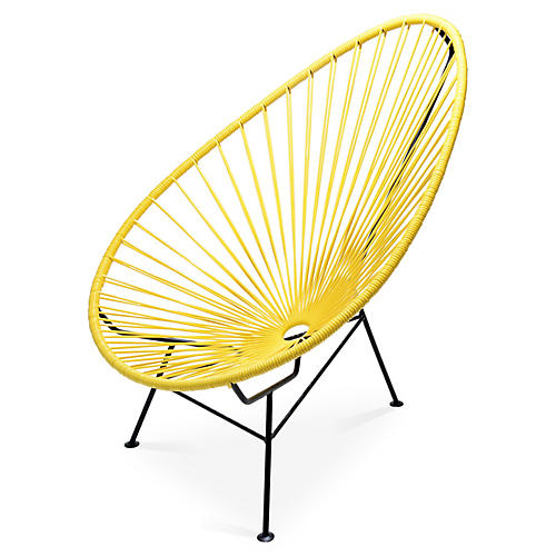Acapulco Lounge Chair, Yellow