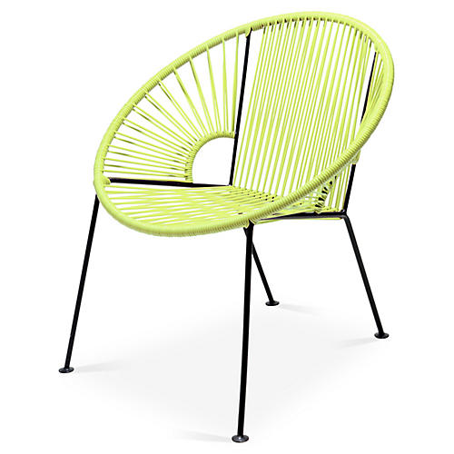 Ixtapa Lounge Chair, Apple Green