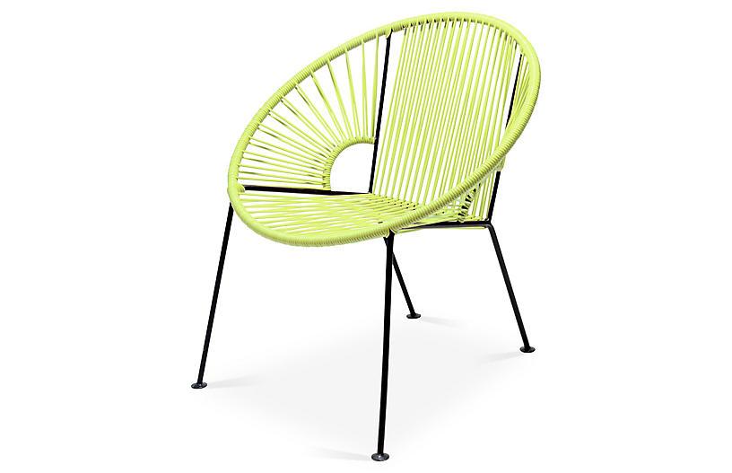 Ixtapa Lounge Chair, Apple Green