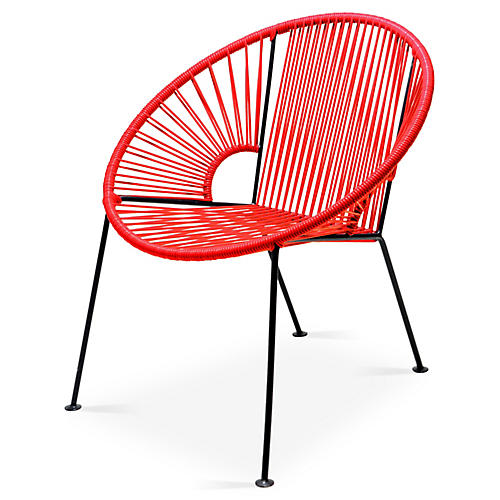 Ixtapa Lounge Chair, Red