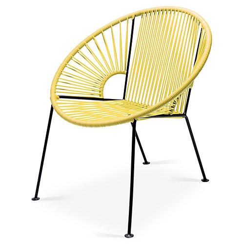 Ixtapa Lounge Chair, Yellow