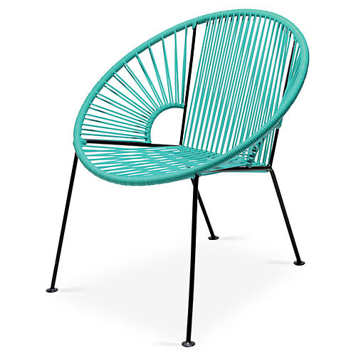 Ixtapa Lounge Chair, Turquoise