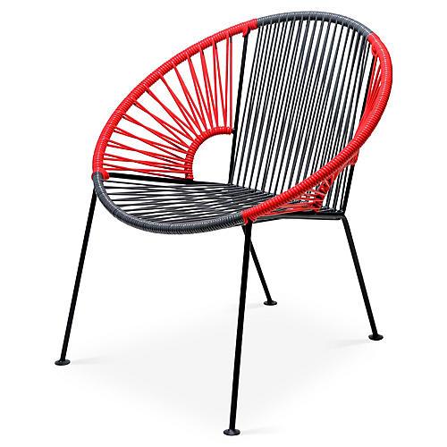 Ixtapa Lounge Chair, Gray/Red