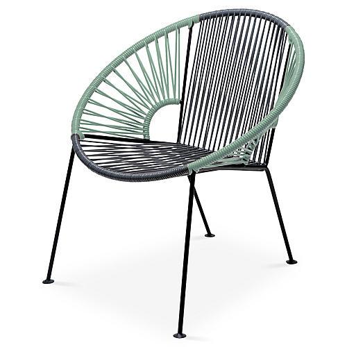 Ixtapa Lounge Chair, Gray/Olive Green