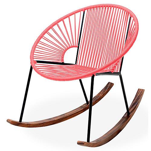 Ixtapa Rocking Chair, Coral