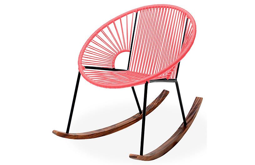 Ixtapa Rocking Chair - Coral - Mexa