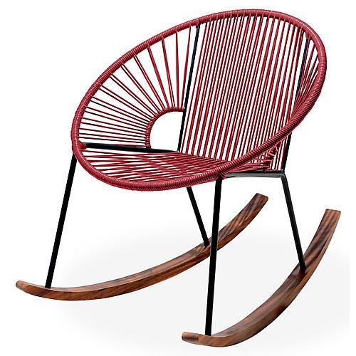 Ixtapa Rocking Chair, Burgundy