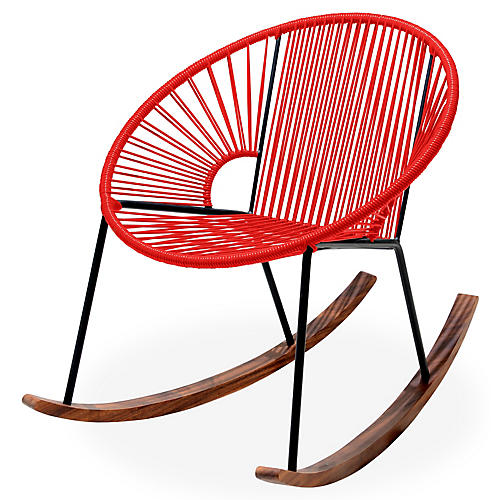 Ixtapa Rocking Chair, Red