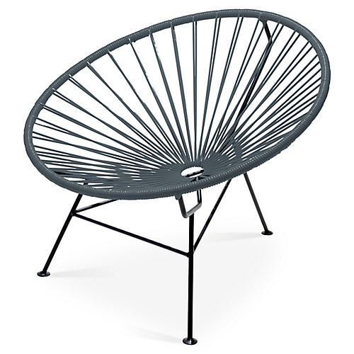 Sayulita Lounge Chair, Stone Gray