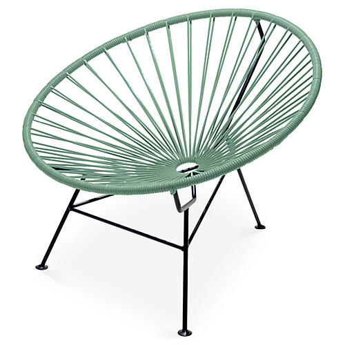 Sayulita Lounge Chair, Olive Green