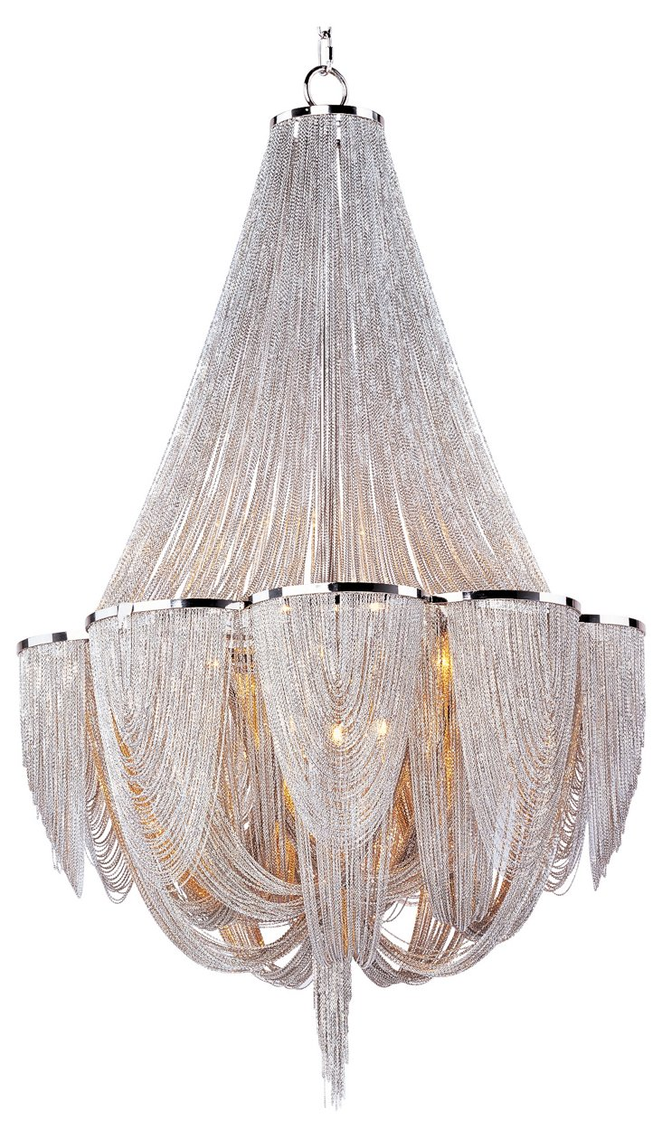Chantilly 12-Light Chandelier, Nickel