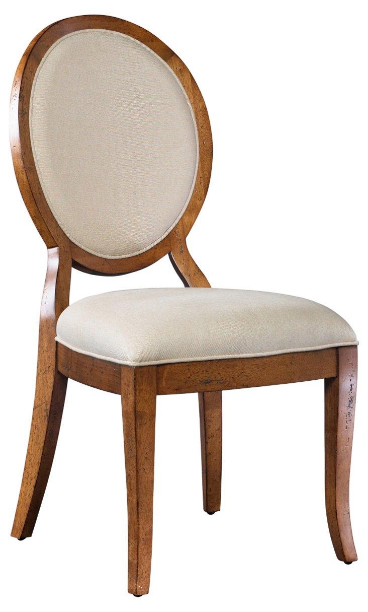 DNU,DiscMae Side Chair, Beige
