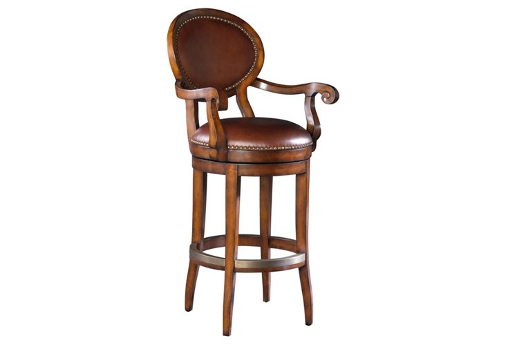 DNU,DiscLuther Oval Bck Barstool