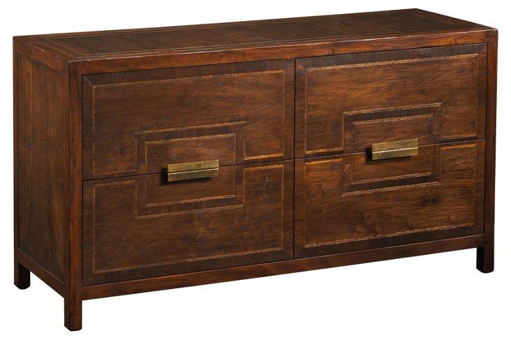 "Modern American 67"" Dresser, Mahogany"