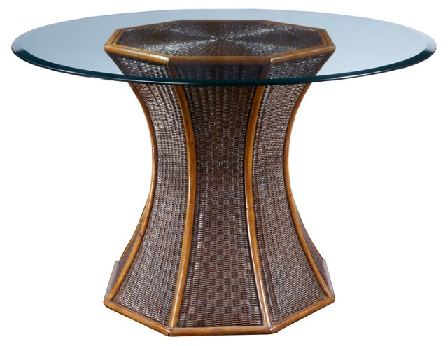 """Elise 48"""" Rattan Dining Table"""