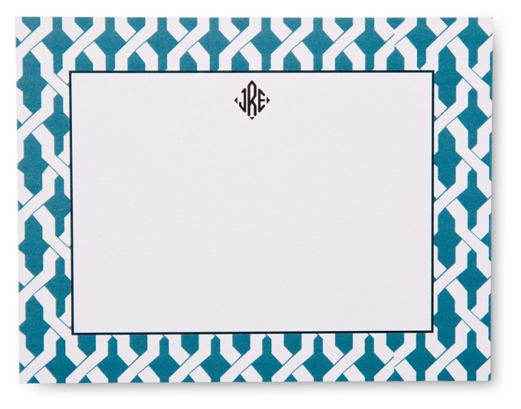 S/50 Custom Link Stationery, French Blue