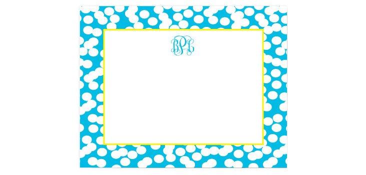 S/50 Custom Dot Stationery, Blue/Yellow