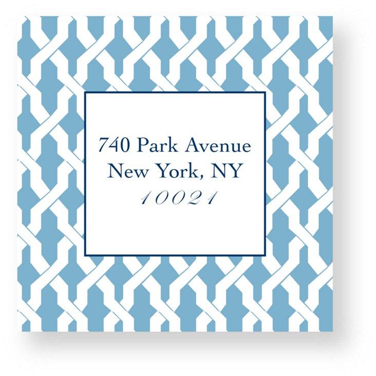 S/40 Custom Link Address Stickers, Blue