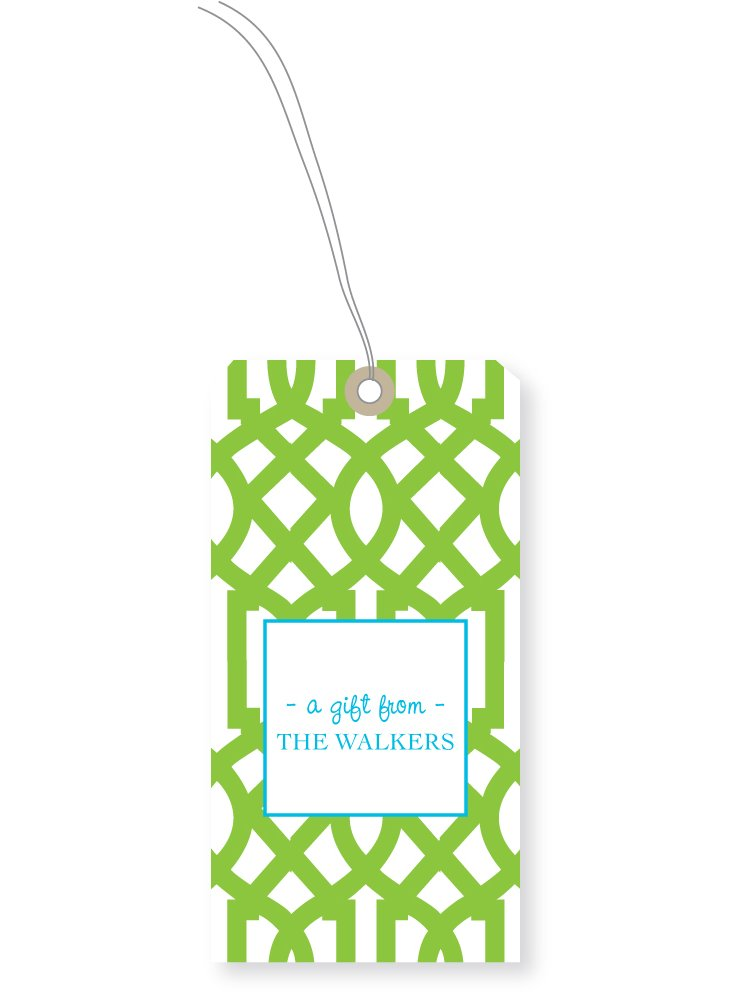 S24 Custom Oval Gift Tags, Lime