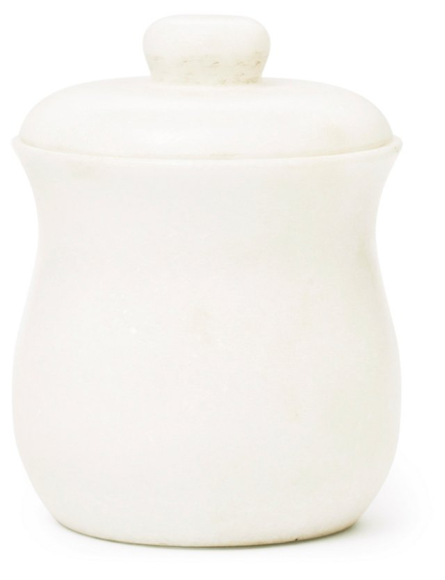 Marble Canister, White