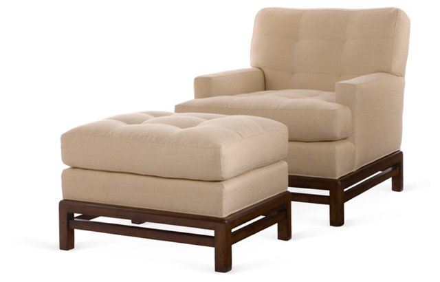 James Chair & Ottoman