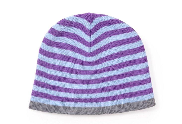 Men's Striped Hat, Blue/Purple