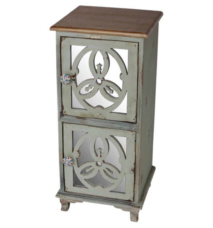 Hannah Accent Cabinet, Green/Gray