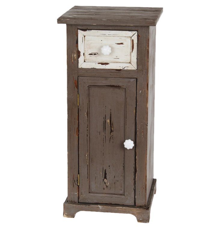 Sinclair Accent Stand, Distressed Pewter