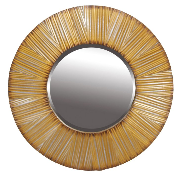 Tiffany Mirror, Gold
